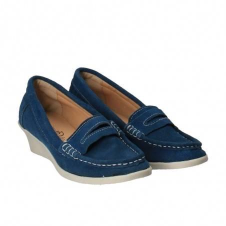 Pantofi Femei, piele, casual, albastru