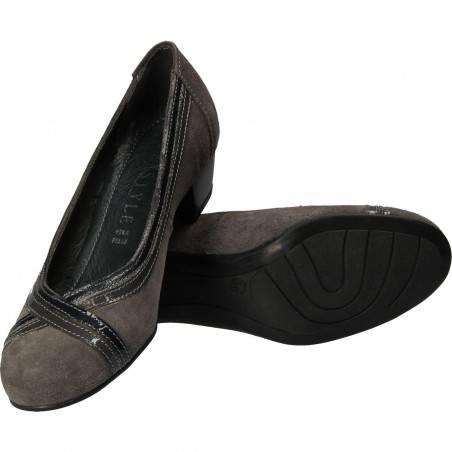 Pantofi Elegant Piele Femei Gri