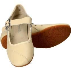 Pantofi Femei, piele, balerini, bej