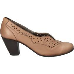 Pantofi Femei, piele, elegant, bej