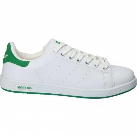 Pantofi sport pentru barbati, Patrol, alb cu verde