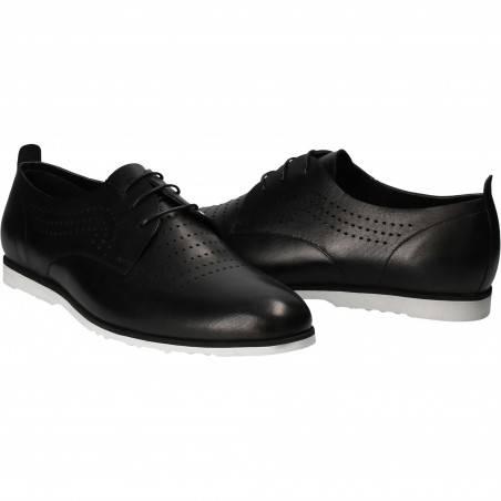 Pantofi Barbati, piele, casual, negru VGT175110-10N-261