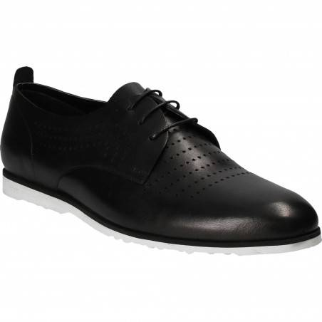 Pantofi Barbati, piele, casual, negru