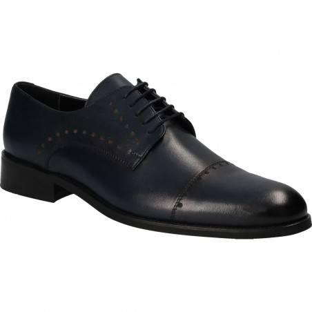 Pantofi din piele, eleganti, barbati, bleumarin