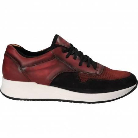 Pantofi Barbati Casual, bordeaux, din piele