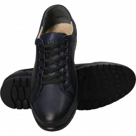 Pantofi barbati piele casual albastru