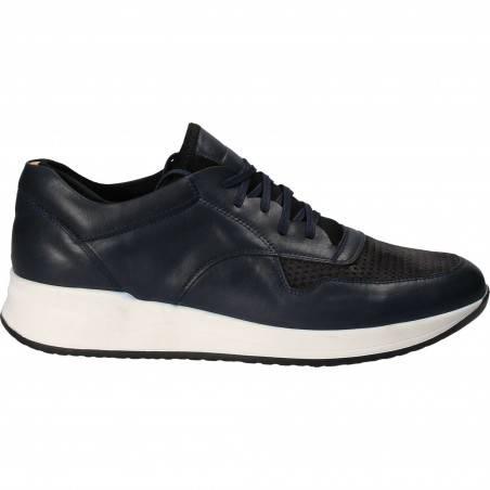 Pantofi Barbati Casual Piele Albastru cu Negru