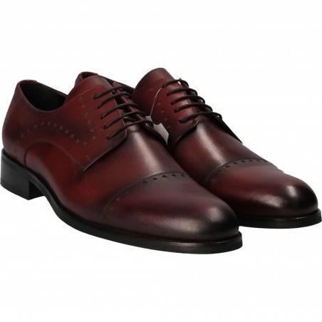 Pantofi din piele, eleganti, barbati, bordeaux VGT16523-2BO-292