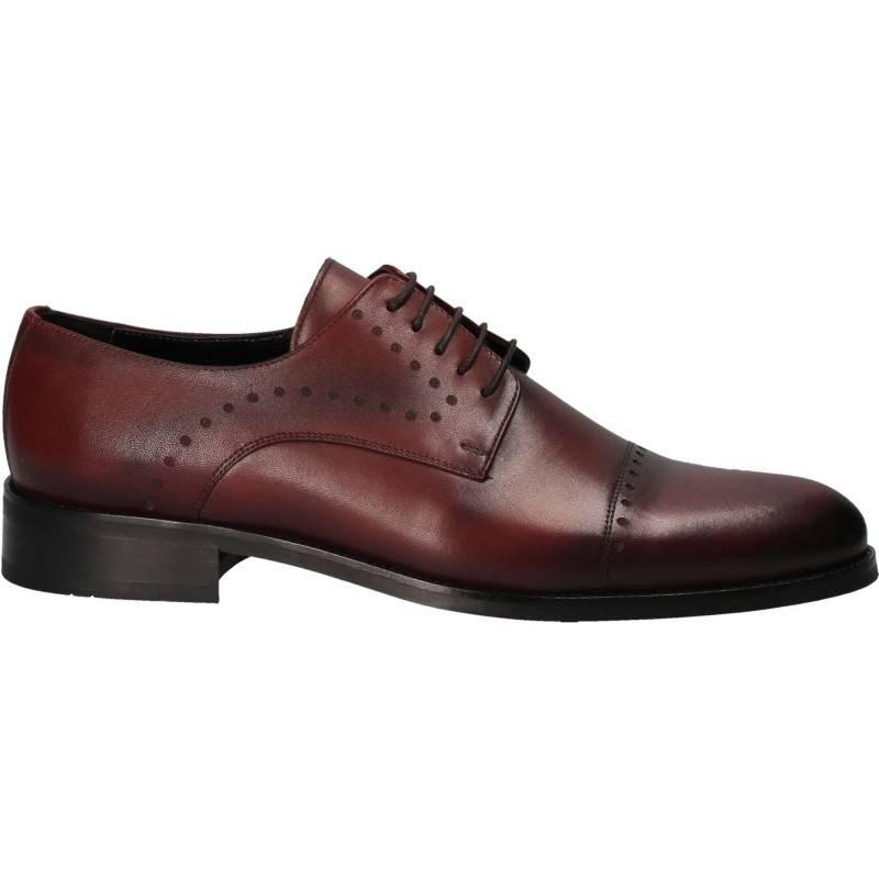 Pantofi din piele, eleganti, barbati, bordeaux