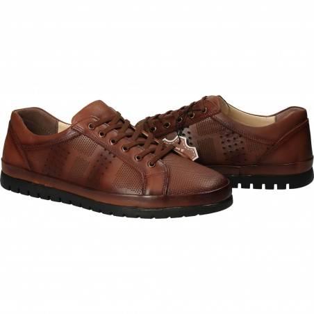 Pantofi Barbati, piele, casual, maro VGT18S-261M-257