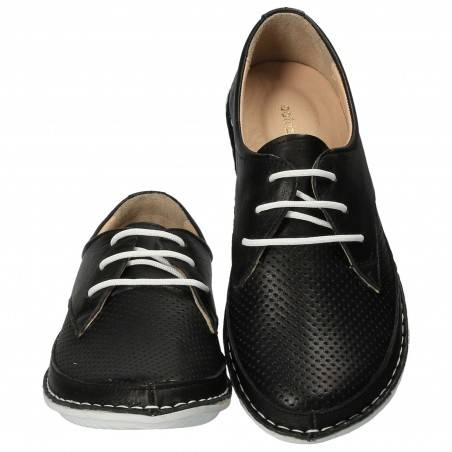 Pantofi Femei, piele, casual, negru VGT82145-1N-237