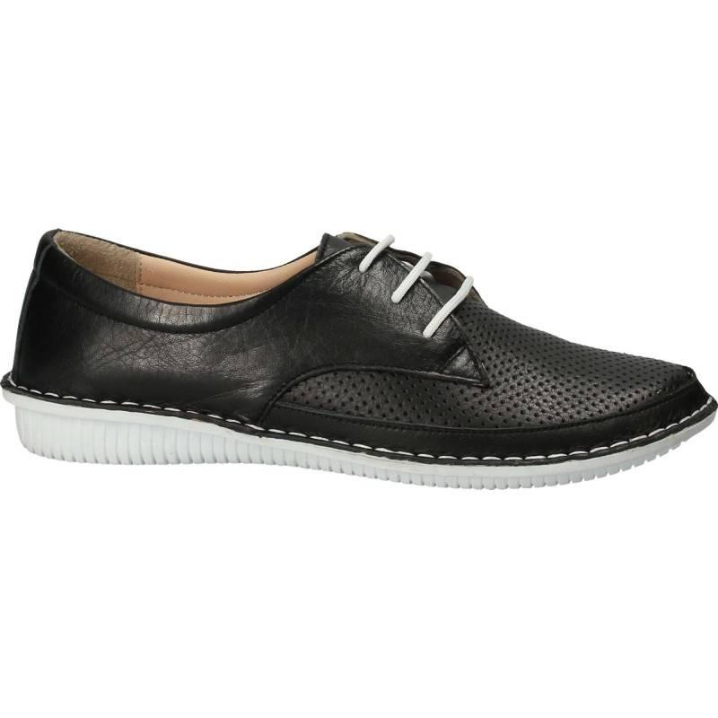 Pantofi Femei, piele, casual, negru