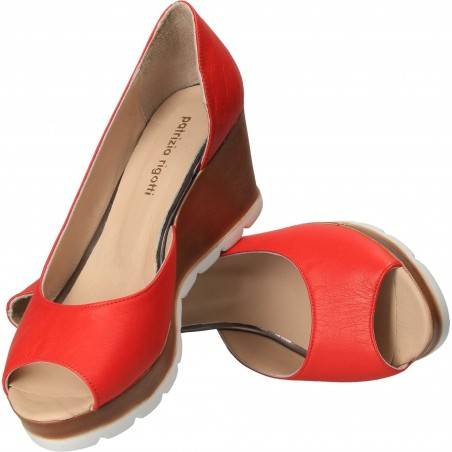 Pantofi Femei, piele, elegant, rosie VGT66146-3R-237