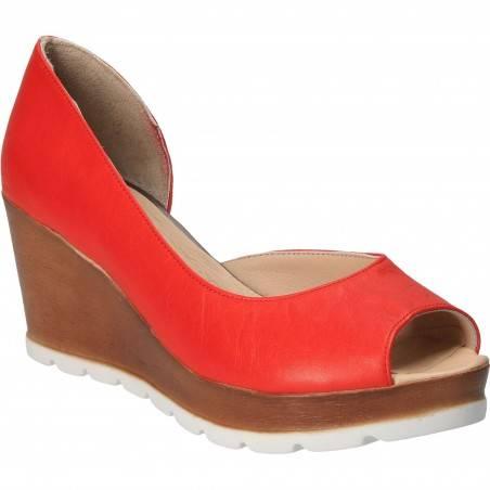 Pantofi Femei, piele, elegant, rosie