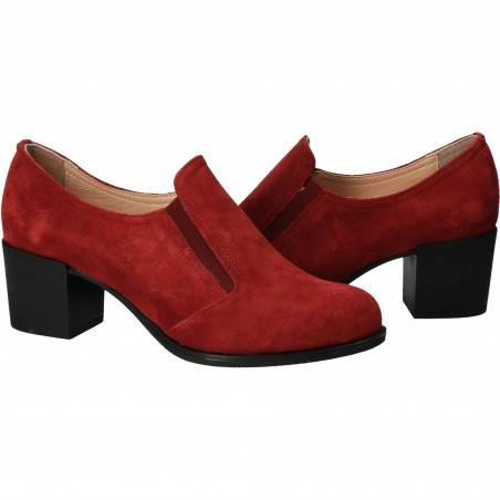 Pantofi din velur, eleganti, femei, rosie VGT140R-237