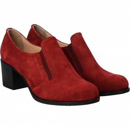 Pantofi din velur, eleganti, femei, rosie