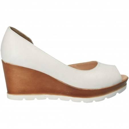 Pantofi Femei, piele, elegant, alb