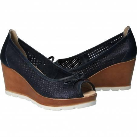 Pantofi Femei, piele, elegant, platforma, albastru