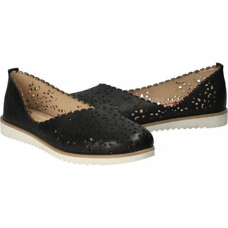 Pantofi Femei, piele, casual, negru VGT3020LN-245