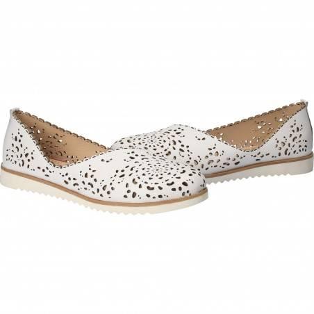 Pantofi Femei, piele, casual, alb VGT3020LA-245