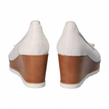 Pantofi Femei, piele, elegant, platforma, alb VGT66146-2AAG-245
