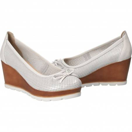 Pantofi Femei, piele, elegant, platforma, alb