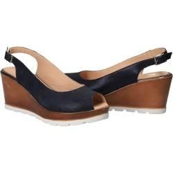Sandale Elegante Femei Piele Albastru