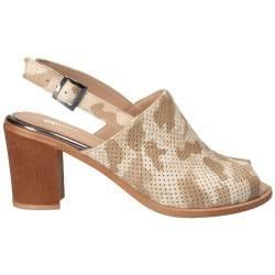 Sandale Femei Elegant Piele Bej VGT17645-2BE-281