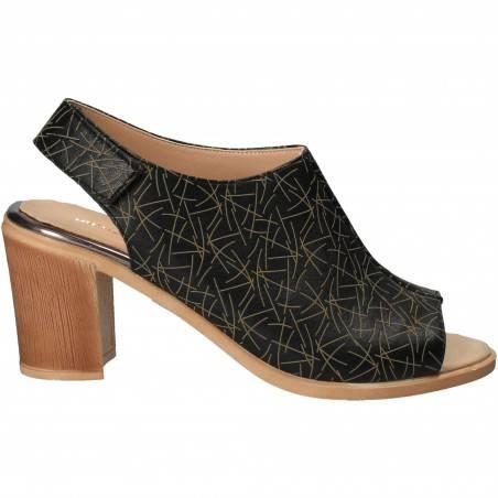 Sandale Elegante Femei Piele Negru VGT17645-1N-281