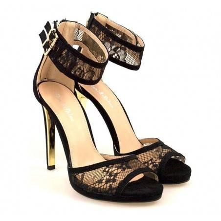 Sandale Femei Elegant Piele ecologica negru VGFEK121N.MS-146