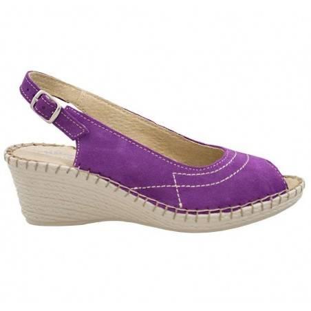 Sandale violete, moderne, piele naturala