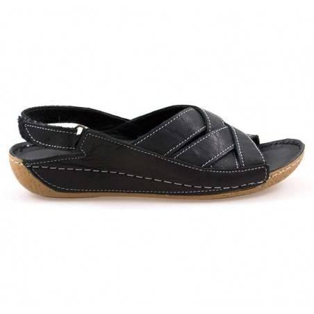 Sandale femei casual piele negru JOYJ10N-88