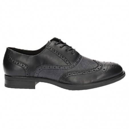 Pantofi Barbati Elegant negru cu gri Oxford
