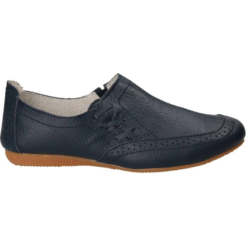 Pantofi Femei casual piele albastru SABVK2038-6B
