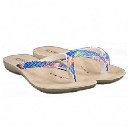 Slapi flip flop, pentru femei, multicolor