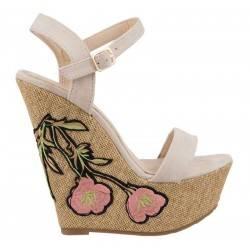 Sandale dama casual bej...