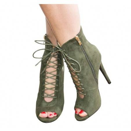 Pantofi inalti femei elegant verde  VGFJM7252V.MS-102