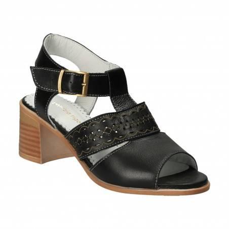Sandale Femei Piele negre VGT43-LN