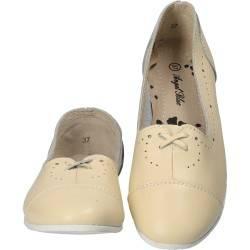 Pantofi Femei, piele, casual, bej