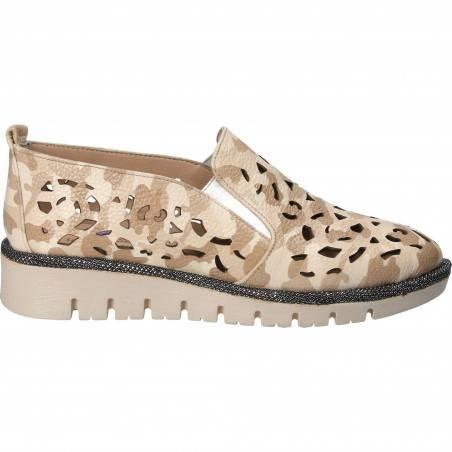 Pantofi de dama, din piele, imprimeu camouflage