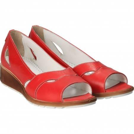 Pantofi Femei casual piele rosii