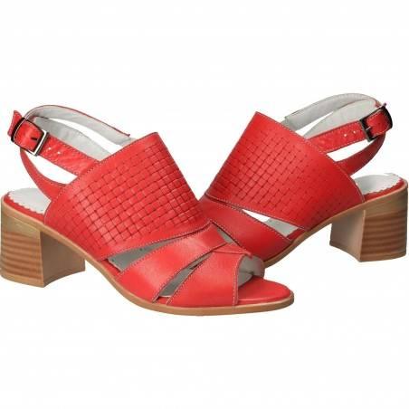 Sandale rosii din piele, de dama, Patrizia Rigotti