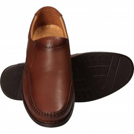 Pantofi casual barbatesti, piele, maro