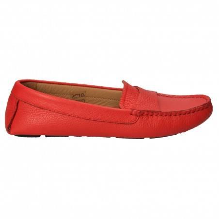 Pantofi femei mocasini, rosu