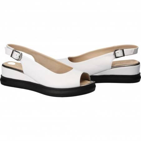 Sandale Femei casual piele albe