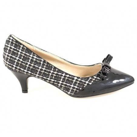 Pantofi Femei cu Toc mic si Fundita