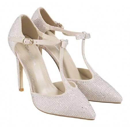 Pantofi Femei Elegant Pietre Bej