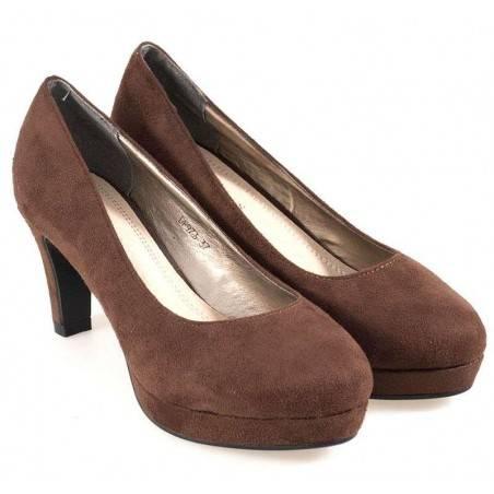 Pantofi de dama, office, culoarea maro