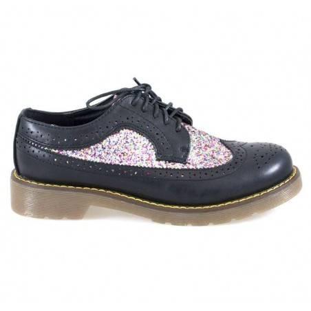Pantofi Femei, stil Oxford, cu sclipici