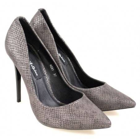 Pantofi Femei Eleganti Negri cu Toc Stiletto